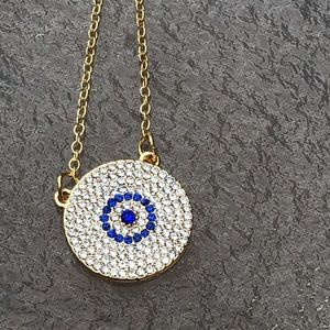 New Evil eye necklace bling good luck protection